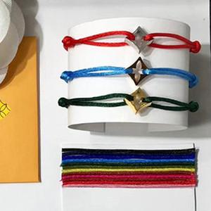 Diamante de lujo ahuecado cuerda de la flor Pulsera de cuatro hojas de la flor correa de mano pareja pulseras para mujeres y hombres de moda jewellery marca superior