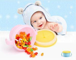 So Easy Silicack Cup No derrames Snack Bowl Dispensador de cereales de bebé suave, taza de doble asa (azul / rosa)