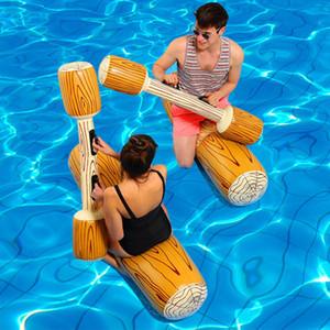 4 piezas / juego del flotador justa juego de la piscina de agua inflable Deportes parachoques Juguetes para el partido Hijos Adultos Gladiador Balsa kickboard NY054