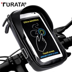Turata suporte do telefone universal suporte de bicicleta suporte móvel saco à prova d 'água para iphone x 8 plus s8 v20 gps bicicleta guiador moto c18110801