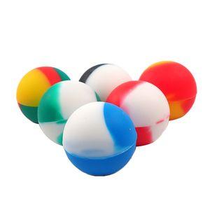 Preço de fábrica pequena forma de bola de Silicone Antiaderente Recipiente para o óleo de cera bho 5.6 ml