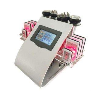 40k 6 in1 레이저 지방 연소 슬리밍 기계 초음파 Cavitation RF 피부 리프팅 지방 흡입 체중 감소 기계 무료 배송