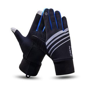 Aonijie deportes al aire libre hombres mujeres guantes de esquí de invierno cálido a prueba de viento ciclismo correr senderismo motocicleta guantes llenos del dedo 2 tamaño