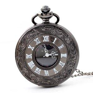 Wengle Nova Escultura estilo Country Relógio de bolso Romano Do Vintage Unisex Acessórios numeral romano caso relógios de Quartzo