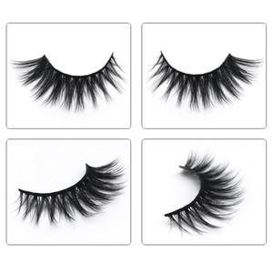 3D Mink Cílios Maquiagem dos olhos Mink Cílios Postiços Macio Natural Grosso Cílios Falsos Eye 3D Lashes Extensão Beleza Ferramentas 17 estilos DH