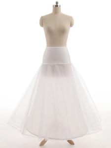 Envío gratis Hot Slae 1 aro 2 capas Tulle Aline Enagua Boda nupcial Enagua barata Underkirt Crinolines para vestido de novia