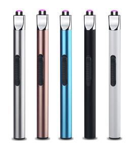 Encendedor de vela encendedor de arco eléctrico Encendedor recargable USB Encendedores eléctricos a prueba de viento sin llama larga para estufa de barbacoa BBQ Camping al aire libre