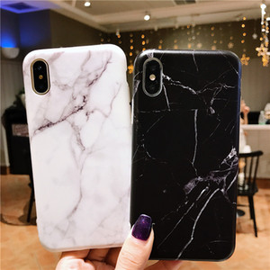 블랙 화이트 대리석 스트라이프 정맥 소프트 TPU 전화 뒷면 커버 케이스 아이폰 6 6S 7 8 플러스 안티 - 노크 케이스 iPhone6 쉘 DHL 무료 배송