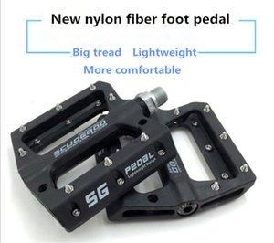 عالية الجودة الدراجة الجبلية دراجة دراجة ألياف النايلون تحمل دواسة القدم عدم الانزلاق المحمولة دواسة أربعة لون اختياري