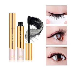 Mascara O.TWO.O Mascara 3D Fibra Trucco Allungamento Volume Ciglia nere Ciglia Mascara a lunga tenuta color oro impermeabile