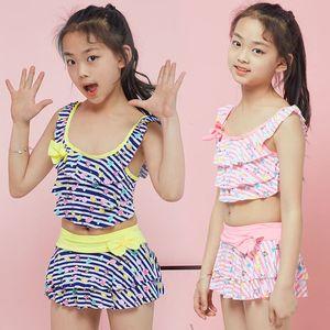 Neue hübsche Seesterne gedruckt Sommer Kinder Split zweiteilige Badeanzug Mädchen Bikini Kinder schöne Bikini Kinderbadebekleidung