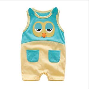 mameluco 2018 INS recién llegado bebé niños lindo cuello redondo de alta calidad de algodón Owl animal modelado escalada romper envío gratis