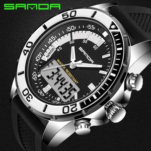Orologio da uomo SANDA da uomo sportivo da sub con display a LED, orologio da polso, moda casual, cinturino in caucciù, orologio da polso Relogio