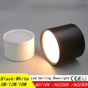 2018 Новый поверхностный потолочный светильник SMD5730 5W 12W 18W 85-265V лампа COB Led downlights потолочное пятно света + светодиодный драйвер