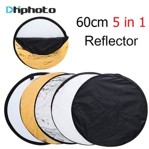 "24"" 60cm 5 in 1 Portable Collapsible Round Photography Fotografia Reflector for Photo Studio Multi Photo Disc Flash Light"
