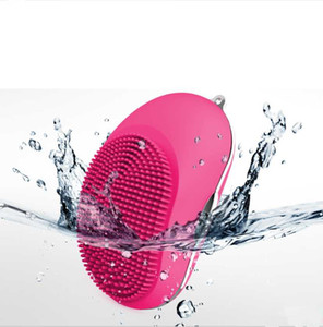 Wholesale Skin care electric facial cleaning massage brush Ultrasonic face washing machine waterproof silicone face cleanser dirt remove