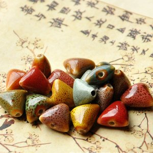 XINYAO 30pcs lot 14mm Triangle Ceramic Beads DIY Handmade Loose Porcelain Charms Bead for Wome Bracelets Jewelry Making