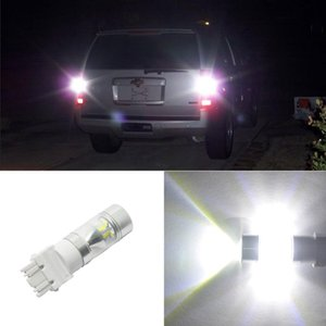 2X T25 3157 Coche LED Luz de freno Parada Bombilla trasera 12SMD Automático Luz de señal de giro Respaldo de reserva Luces Universal