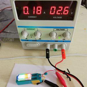 2 adet LED Ekran Batt Göstergesi 4 Renkler Dijital BattCursor Bargraph LED Bar Grafik Pil Göstergesi İmleç 1B4G3O2R