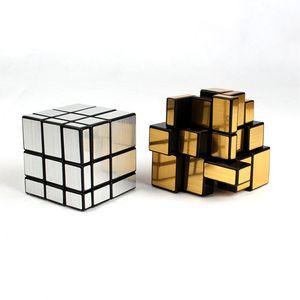 3x3x3 Mirror Magic Quadrat Kinder gußbeschichteten Puzzle Lernen Lernspielzeug Magics Cube Creative Kids Geschenk