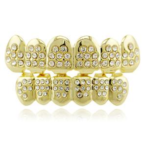 Grillz медь материал посеребрение 8 зуб пользовательские верхней нижней grillz Bling рот зубы крышки хип-хоп Grillz тела ювелирные изделия