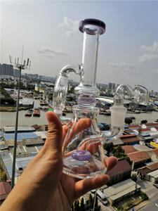 Frete Grátis Bongs Beaker Base de Tubos De Água De Vidro Sólido 2 Função Heady Bubbler Cera Cachimbos de Vortex Klein Recycler Oil Rigs Barato