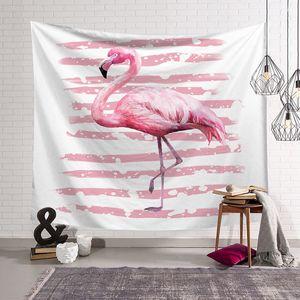 Decorazioni per la casa di decorazioni per la casa di animali da appendere alla parete di arazzi fenicotteri bianchi e rosa