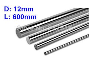 4шт/много D12mm L600mm линейный вал 12мм ЛМ диаметр вала 600мм долго LM12UU 12 мм линейный шарикоподшипник ровная штанга