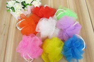 Bad Dusche Körper Peeling Puff Schwamm Mesh Net Bonbonfarben Mesh Schwamm weichen Bad Pinsel Schwämme Wäscher (zufällige Farbe)