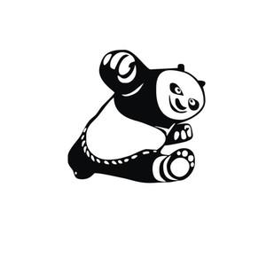 1 ADET 15 * 14 cm Kung Fu Panda Po Hayvanlar Araba Çıkartmaları Yansıtıcı Vinil Araba tasarım Su Geçirmez Motosiklet Araba aksesuarları CA-307