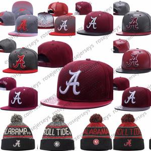 NCAA Alabama Crimson Tide Caps 2018 Yeni Kolej Ayarlanabilir Şapka stokta Tüm Üniversite Snapback Mix Maç Toptan Sipariş Gri Geri Kırmızı