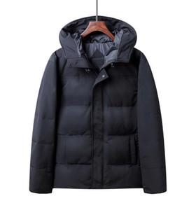 Yeni stil Erkekler Kış Ceketler kaz tüyü Palto Aşağı Sıcak Ceket Açık Kapüşonlu erkek aşağı Parkas 00815