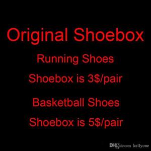caixa de sapatos etc sapatos acessórios, caixa extra extra / custo de transporte Extra / diferença de preço etc