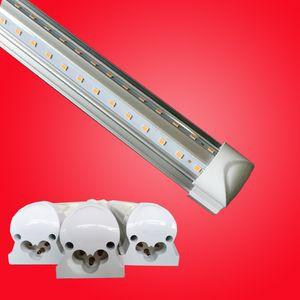 CREE Интегрированное T8 светодиодные трубки света двойными бортами 4ft 5ft 6ft 8FT Cooler освещения светодиодные лампы трубки наборы AC 110-240 С Все аксессуары