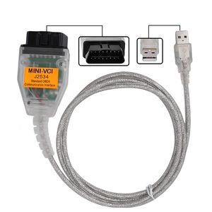 10 pz un sacco FTDI Chip V13.00.022 Mini-VCI J2534 Interfaccia Mini VCI Cavo USB Per Toyota TIS Techstream