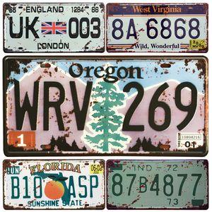 EE. UU. Oregon State Car Metal Matrícula Placa de Decoración Del Hogar de La Vendimia Cartel de chapa Bar Metal Decorativo Sign Art Pintura Retro Placa Y18102409
