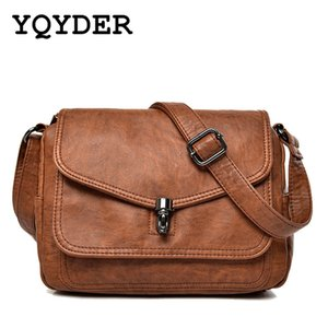 Women Genuine Leather Shoulder Bags High Quality Real Cowhide Messenger Bags Small Flap Crossbody Ladies