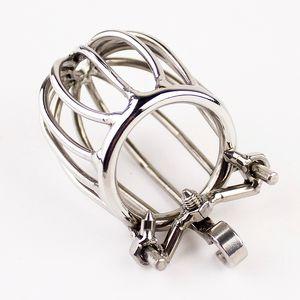 Chastity Lock Changity Cage Ring Steel Men Stealth Устройство из нержавеющей стали для игрушек Penis Lock Mean Anti-Spike Cage с членом секс XWNSD