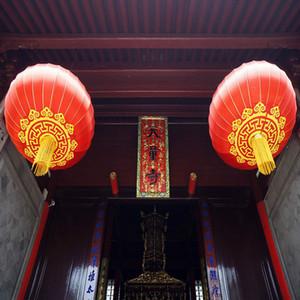 2PC cinese lanterne rosse 40 centimetri Capodanno cinese Festival articoli per la casa Chinatown cultura matrimonio