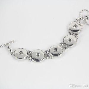 La más nueva aleación de metal Noosa 5 trozos pulsera ajustable botón a presión jengibre snap pulseras de cobre joyería de las mujeres Nueva llegada 17110209
