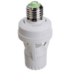 Smart AC 110V-240V 60W Capteur de mouvement infrarouge à induction PIR E27 Support de base avec adaptateur de prise de courant