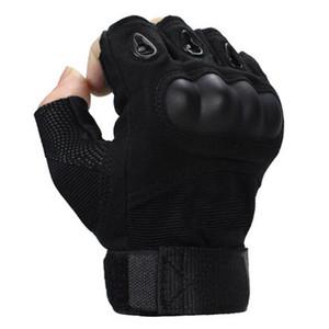 القوات الخاصة للرجال والنساء الرياضة قفازات نصف اصبع قفازات التكتيكية الجيش القتال زلة قذيفة من ألياف الكربون المشتركة
