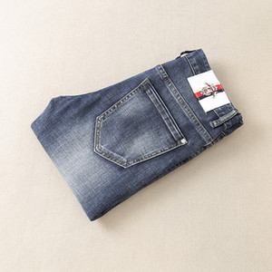 Hommes Jeans 2018 Hommes Bleu Jeans Slim Fit Stretch Denim Casual Top Qualité Pantalons Business Pantalons pour Homme Garçons Jean Homme 9812