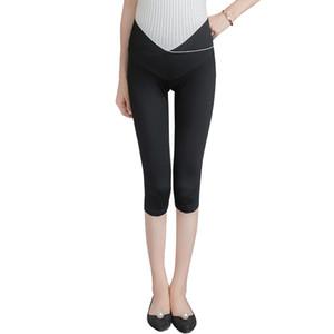 Cotton Modal Maternity Legging Summer Fashion Vita bassa Pancia Vestiti per le donne incinte Gravidanza Hot Shorts Capris Bottom