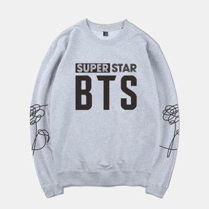 Harajuku Kpop BTS-SUPER STAR Frühling Warme Hoodies Sweatshirt Männer / Frauen Trainingsanzug Anime Hoodie Kleidung Plus Größe