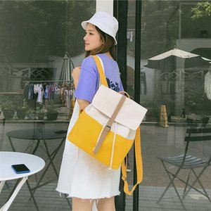 Top Quality Canvas Women Backpack Casual College Bookbag Female Retro Stylish Daily Travel Laptop Backpacks Bag  bolsas