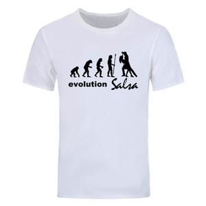 Evolución Salsa de los hombres camiseta de manga corta Barato Fitness camiseta casual de algodón Nueva moda de verano de los hombres cuello redondo Tops Tees DIY-0825D