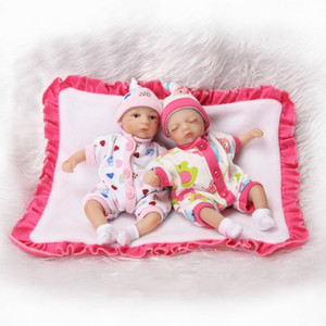 """8 """"20 cm Mini Palm kleine puppe Silikon Vinyl Reborn Puppen Babys Lebensechte Echte Baby Doll Reborn Girl Boy Brinquedos bonecas"""