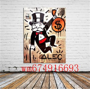 Alec Monopoly Easy Painting, Canvas Canvas Home Decor HD Stampato Modern Art Painting on Canvas (Senza cornice / Incorniciato)