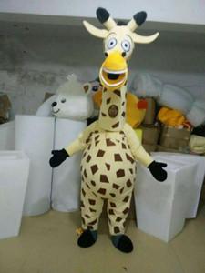 2018 высокое качество горячие жираф талисман костюмы реквизит костюмы Хэллоуин бесплатная доставка